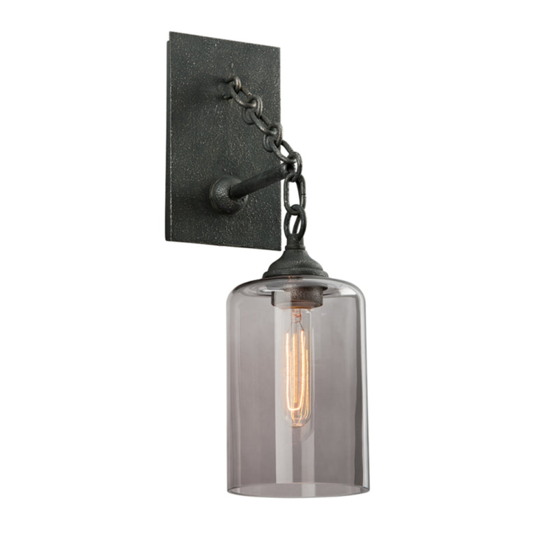 Troy Lighting B4421 Gotham 1lt Wall in Hand-Worked Iron