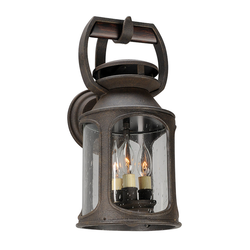 Troy Lighting B4512 Old Trail 3lt Wall Medium in Solid Aluminum And Wood