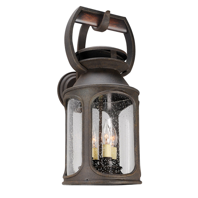 Troy Lighting B4513 Old Trail 4lt Wall Large in Solid Aluminum And Wood