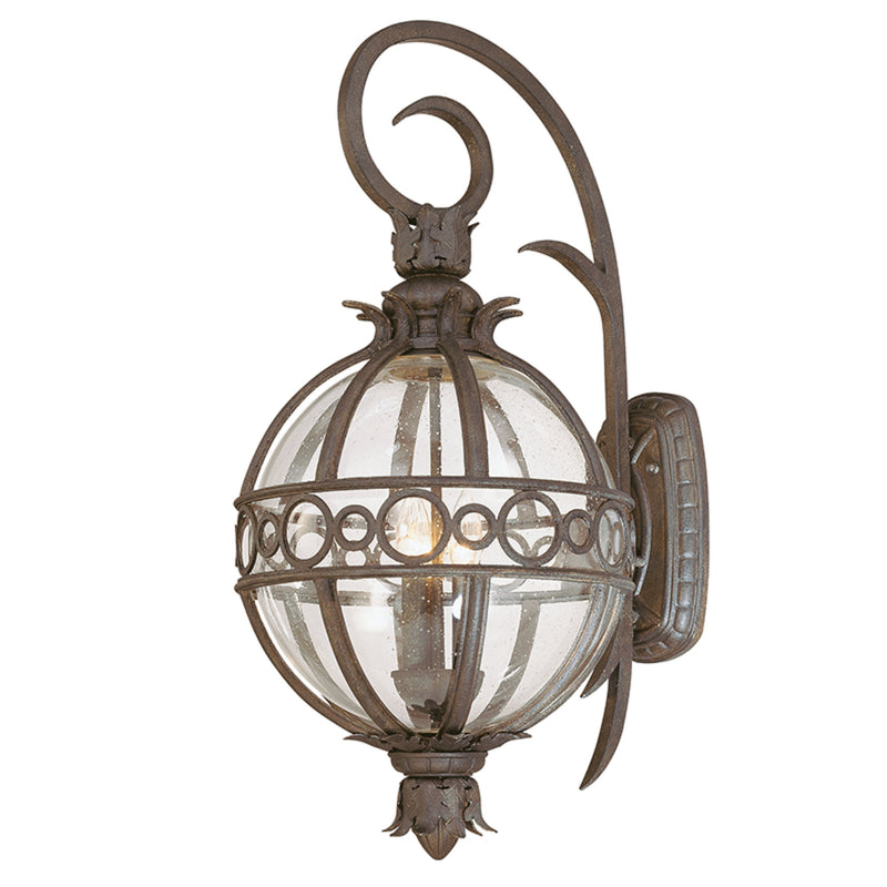 Troy Lighting B5003CB Campanile 3lt Wall Lantern Large in Hand-Worked Iron And Aluminum