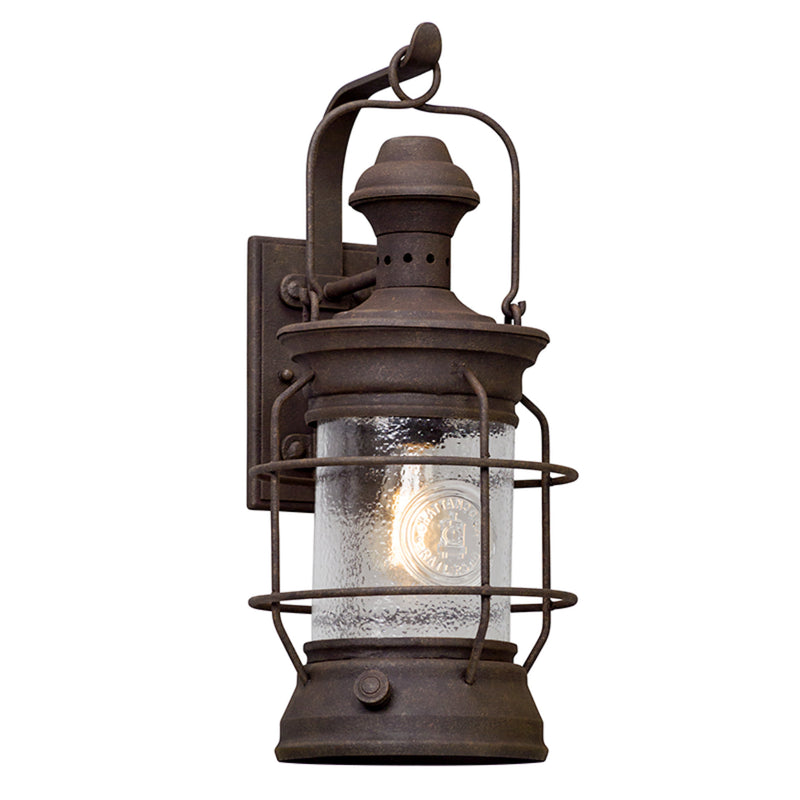 Troy Lighting B5053 Atkins 1lt Wall Lantern Large in Hand-Worked Iron