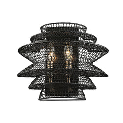 Troy Lighting B6012 Kokoro 2lt Wall Sconce in Hand-Worked Iron