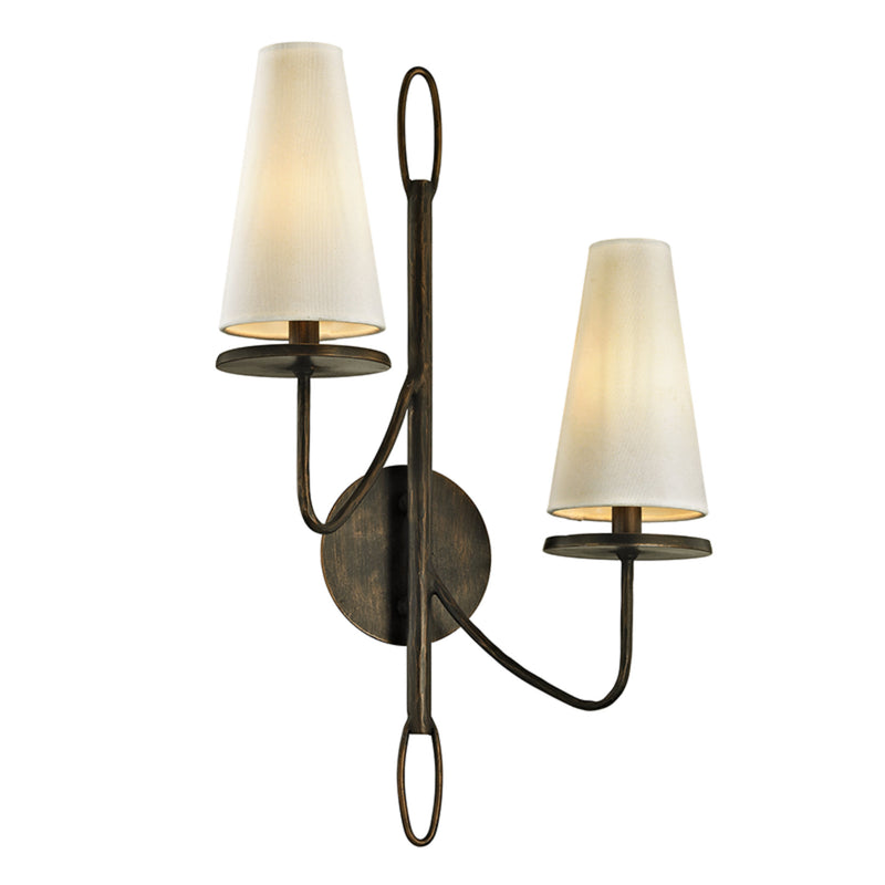 Troy Lighting B6292 Marcel 2lt Wall Sconce in Hand-Worked Iron