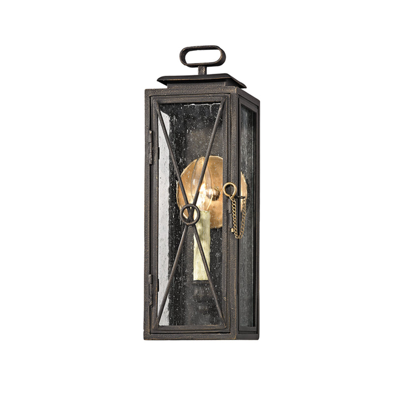 Troy Lighting B6441 Randolph 1lt Wall in Hand-Worked Iron And Brass