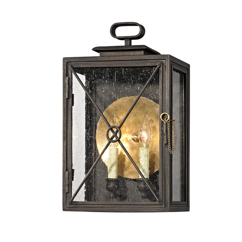 Troy Lighting B6443 Randolph 2lt Wall in Hand-Worked Iron And Brass