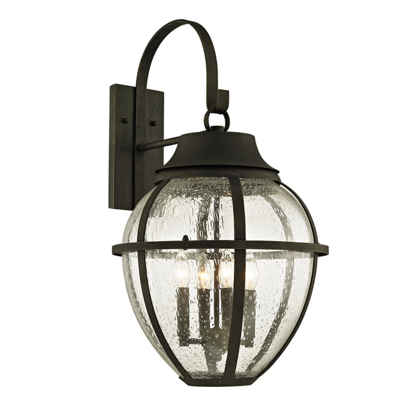 Troy Lighting B6453 Bunker Hill 4lt Wall in Hand-Worked Iron