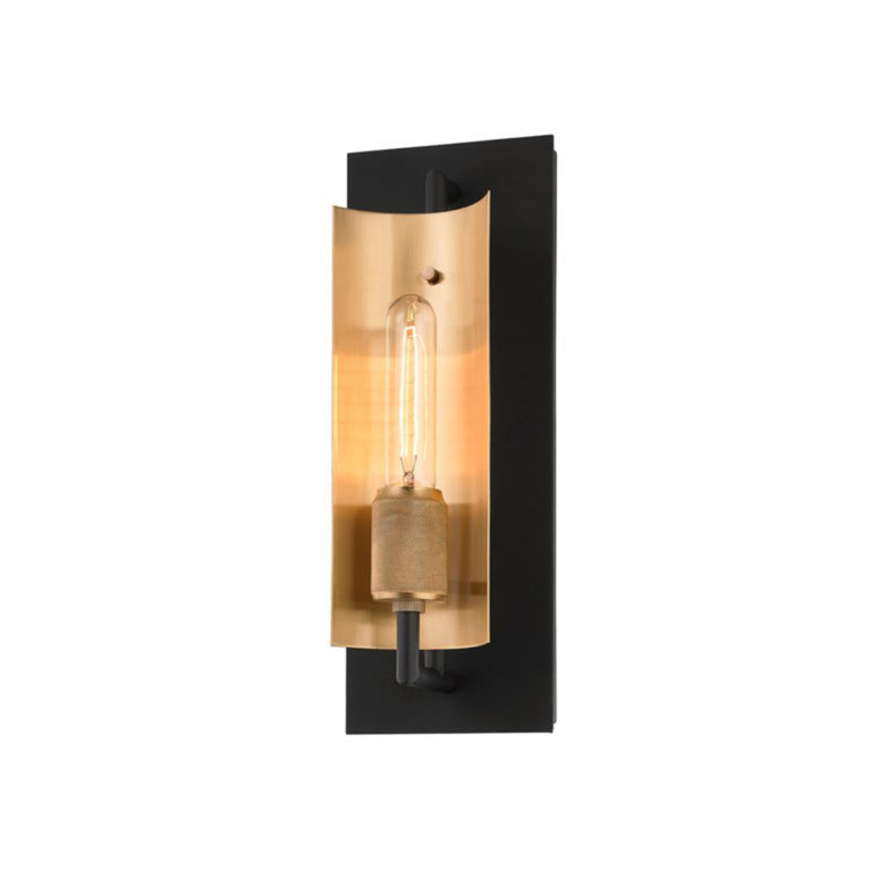 Troy Lighting B6781 Emerson 1lt Wall Sconce in Hand-Worked Iron And Brass