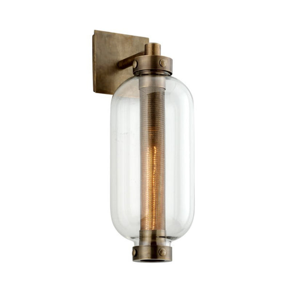 Troy Lighting B7031 Atwater 1lt Wall in Solid Brass