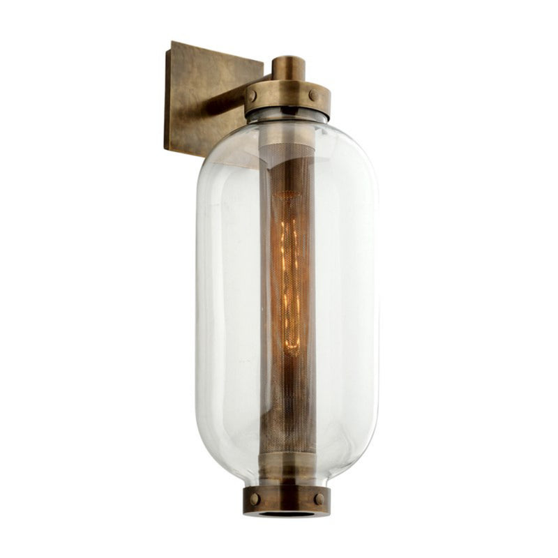 Troy Lighting B7033 Atwater 1lt Wall in Solid Brass