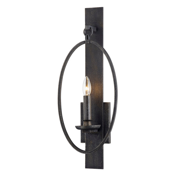 Troy Lighting B7381 Baily 1lt Wall Sconce in Hand Forged Iron