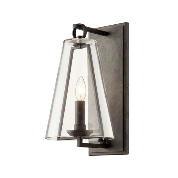 Troy Lighting B7401 Adamson 1lt Wall in Hand-Crafted Aluminum