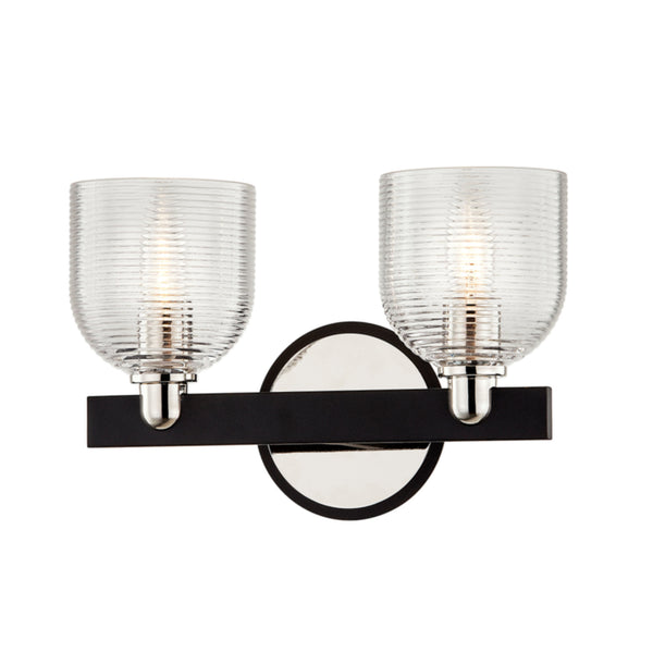 Troy Lighting B7712 Munich 2lt Vanity in Hand-Worked Iron