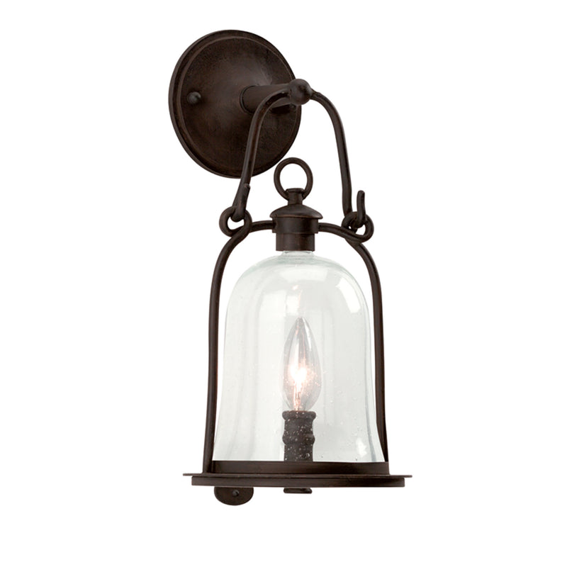 Troy Lighting B9461NB Owings Mill 1lt Wall Lantern Small in Hand-Forged Iron