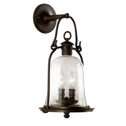 Troy Lighting B9462NB Owings Mill 2lt Wall Lantern Medium in Hand-Forged Iron
