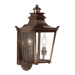 Troy Lighting B9490EB Dorchester 2lt Wall Lantern Small in Solid Brass