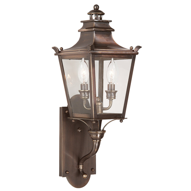 Troy Lighting B9491EB Dorchester 2lt Wall Lantern Small in Solid Brass
