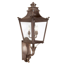 Troy Lighting B9493EB Dorchester 3lt Wall Lantern Medium in Solid Brass