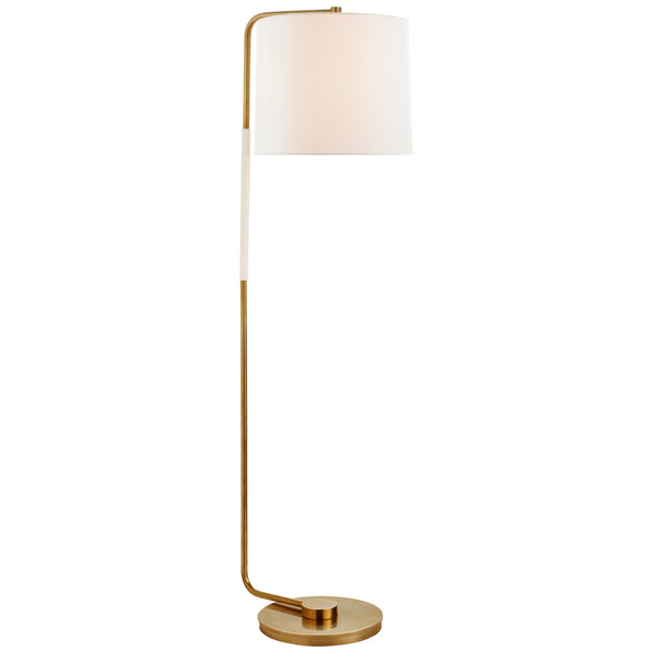 Visual Comfort BBL 1070SB-L Barbara Barry Swing Articulating Floor Lamp in Soft Brass