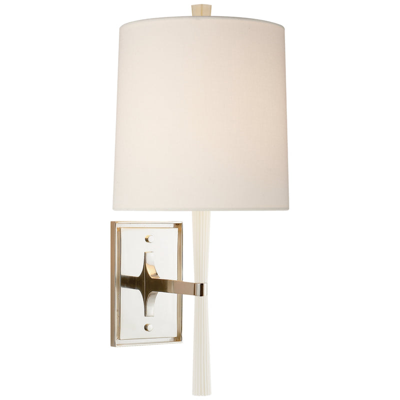 Visual Comfort BBL 2036CW-L Barbara Barry Refined Rib Sconce in China White