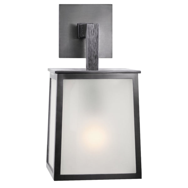Visual Comfort BBL 2070BZ-FG Barbara Barry Modern Ojai Small Sconce in Bronze with Frosted Glass