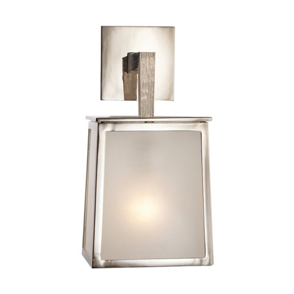Visual Comfort BBL 2070PN-FG Barbara Barry Modern Ojai Small Sconce in Polished Nickel with Frosted Glass