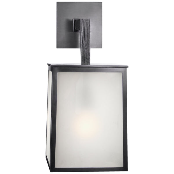 Visual Comfort BBL 2072BZ-FG Barbara Barry Modern Ojai Large Sconce in Bronze with Frosted Glass
