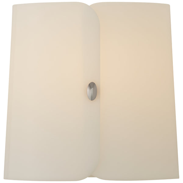 Visual Comfort BBL 2118PN-WA Barbara Barry Modern Dapper Small Sconce in Polished Nickel with White Acrylic Shade