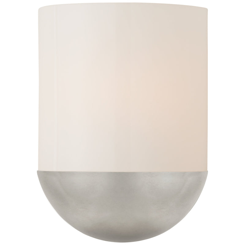 Visual Comfort BBL 2155BSL-WG Barbara Barry Crescent Small Sconce in Burnished Silver Leaf