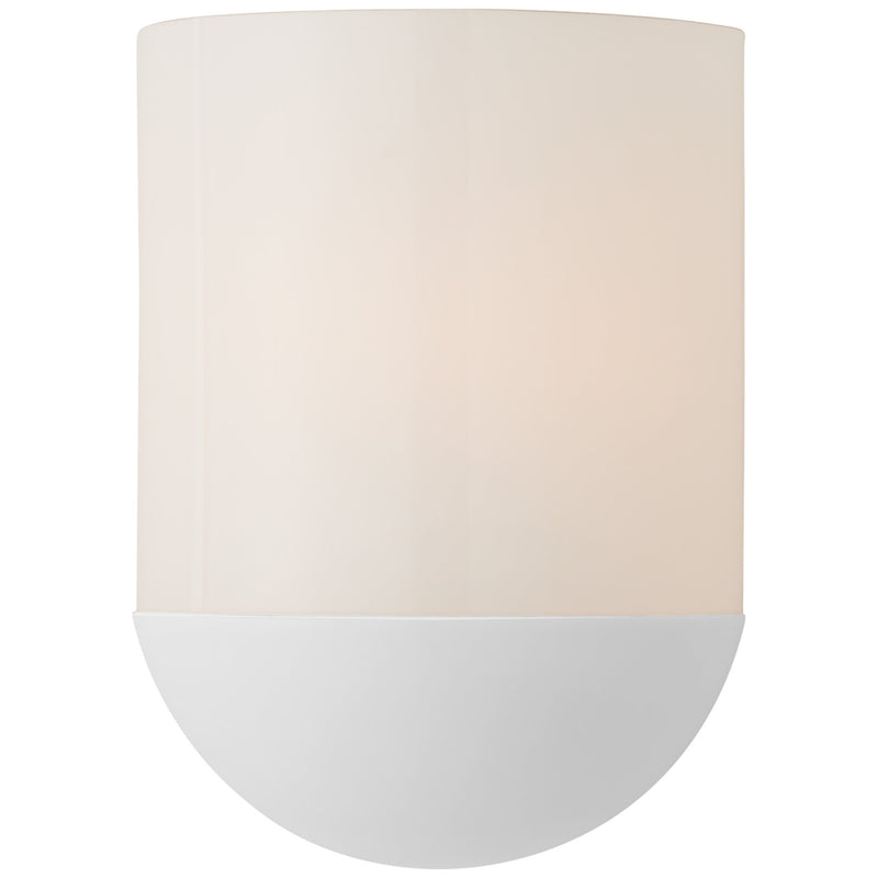 Visual Comfort BBL 2155WHT-WG Barbara Barry Crescent Small Sconce in Matte White