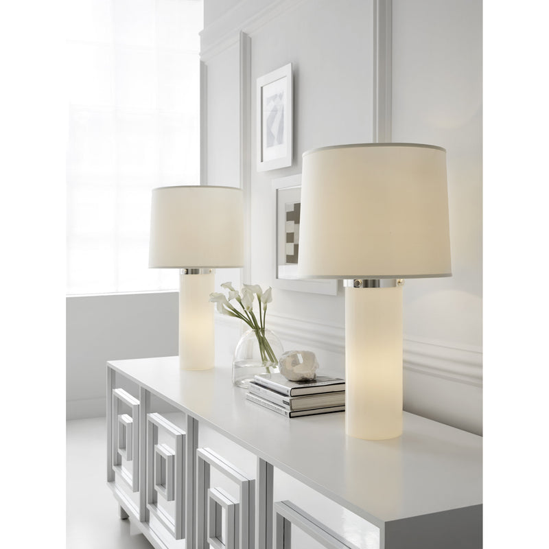 Visual Comfort BBL 3006WG-S Barbara Barry Moon Glow Table Lamp in White Glass