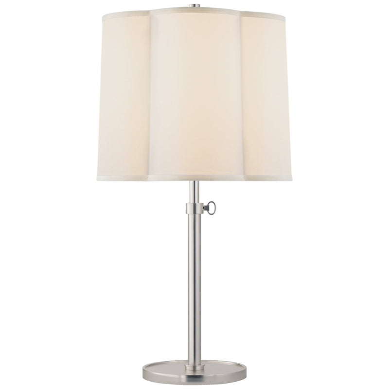 Visual Comfort BBL 3023SS-S Barbara Barry Simple Adjustable Table Lamp in Soft Silver