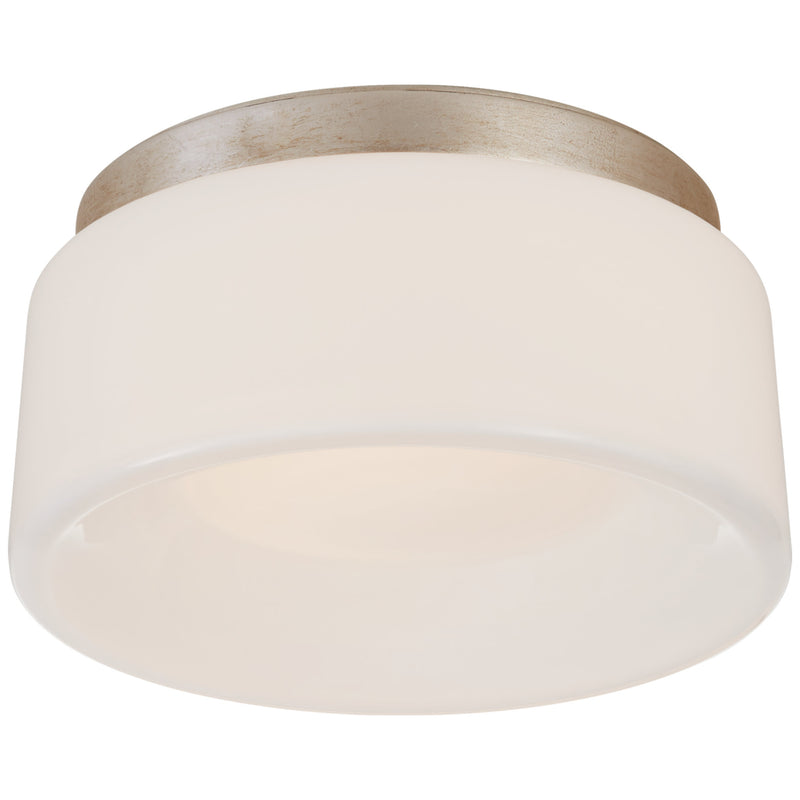 "Visual Comfort BBL 4092BSL-WG Barbara Barry Halo 5.5"" Solitaire Flush Mount in Burnished Silver Leaf"