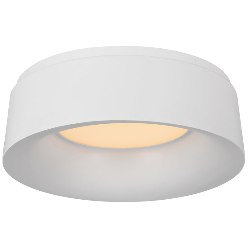 Visual Comfort BBL 4094WHT Barbara Barry Halo Small Flush Mount in Matte White