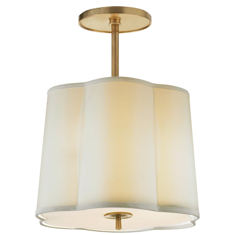 Visual Comfort BBL 5016SB-S Barbara Barry Simple Scallop Hanging Shade in Soft Brass