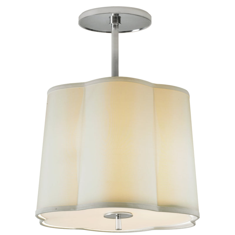 Visual Comfort BBL 5016SS-S Barbara Barry Simple Scallop Hanging Shade in Soft Silver