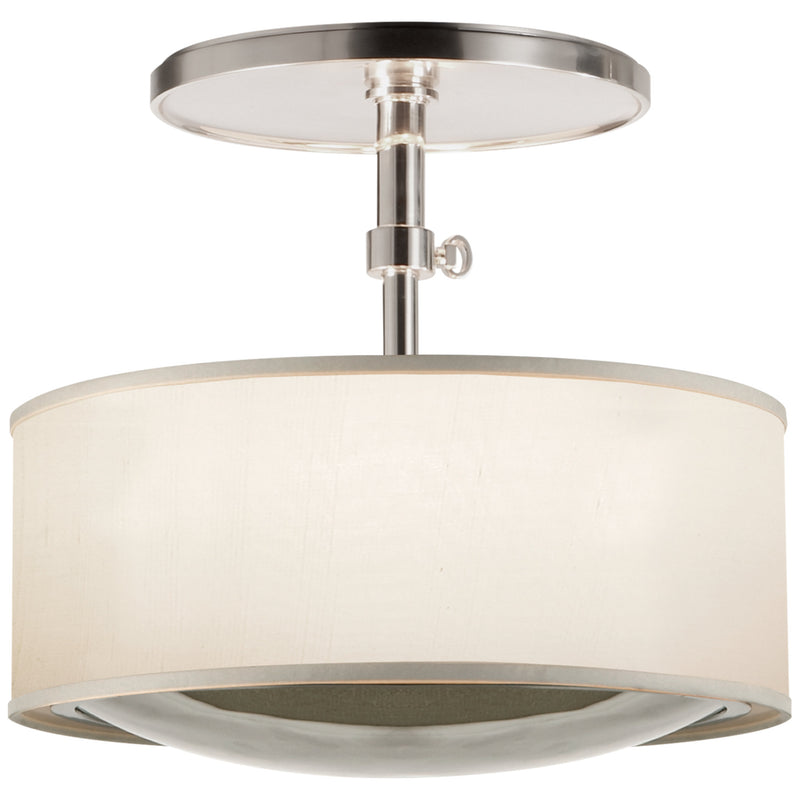 Visual Comfort BBL 5024SS-S Barbara Barry Reflection Semi-Flush Hanging Shade in Soft Silver