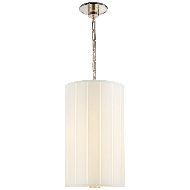 Visual Comfort BBL 5033SS-S Barbara Barry Perfect Pleat Tall Hanging Shade in Soft Silver