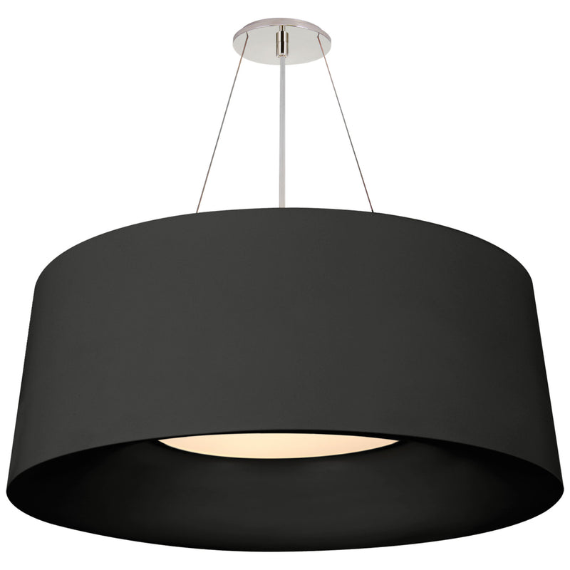 Visual Comfort BBL 5090BLK Barbara Barry Halo Medium Hanging Shade in Matte Black