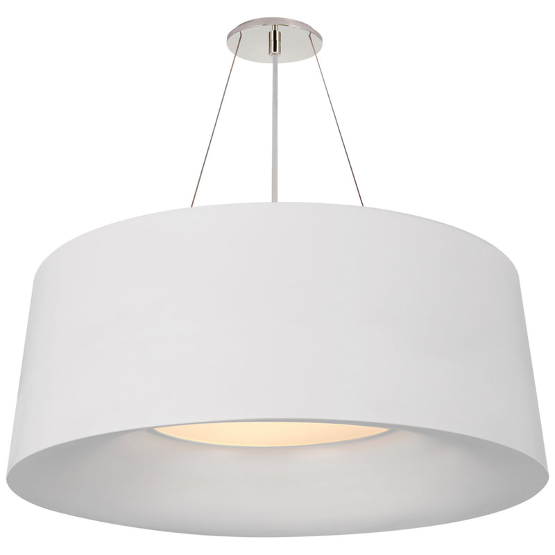 Visual Comfort BBL 5090WHT Barbara Barry Halo Medium Hanging Shade in Matte White
