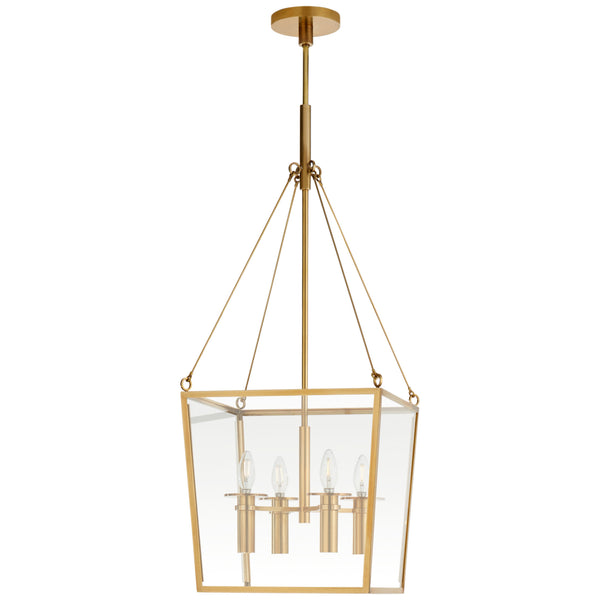 Visual Comfort BBL 5105SB Barbara Barry Modern Cochere Medium Lantern in Soft Brass