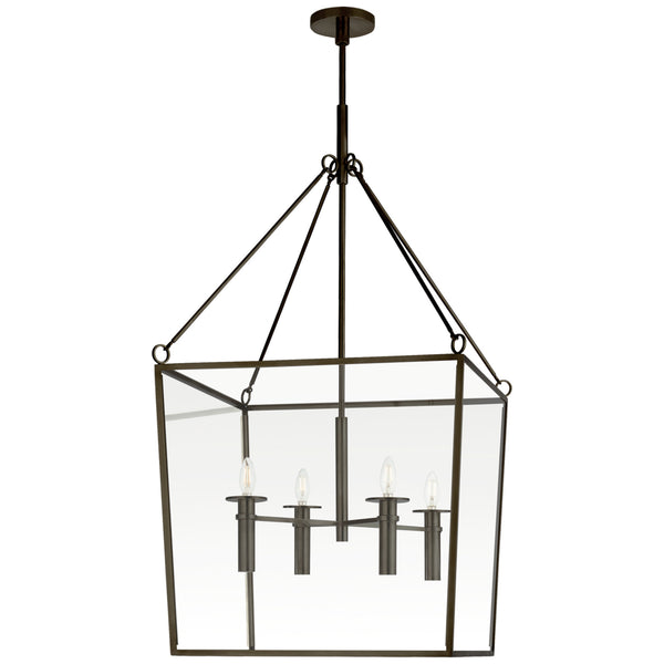 Visual Comfort BBL 5106BZ Barbara Barry Modern Cochere Large Lantern in Bronze