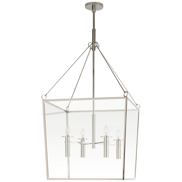 Visual Comfort BBL 5106PN Barbara Barry Modern Cochere Large Lantern in Polished Nickel