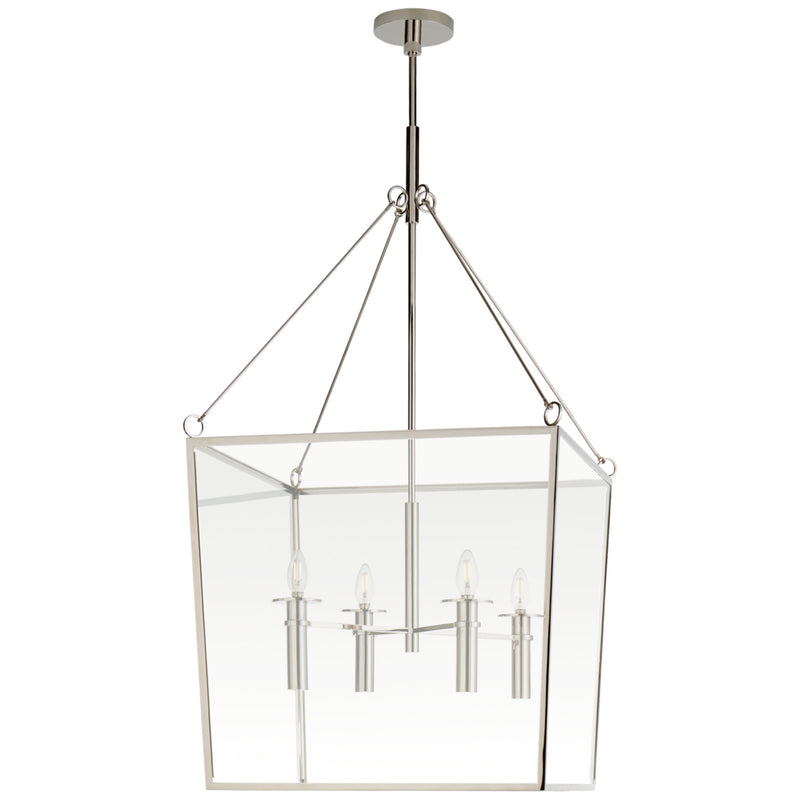 Visual Comfort BBL 5106PN Barbara Barry Cochere Large Lantern in Polished Nickel