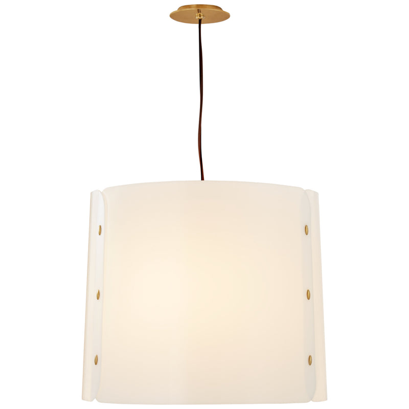 Visual Comfort BBL 5118SB-WA Barbara Barry Dapper Medium Hanging Shade in Soft Brass