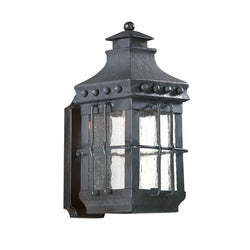 Troy Lighting BCD8970NB Dover 1lt Wall Lantern Small in Hand-Forged Iron