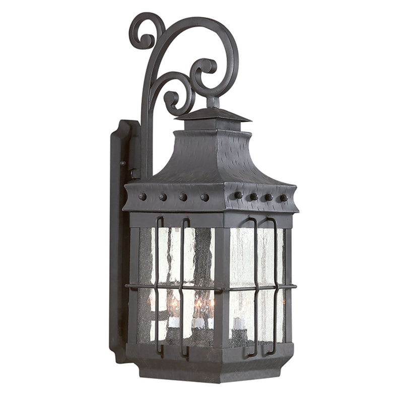 Troy Lighting BCD8974NB Dover 4lt Wall Lantern Large in Hand-Forged Iron