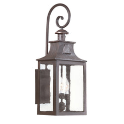 Troy Lighting BCD9005OBZ Newton 3lt Wall Lantern Large in Hand-Forged Iron