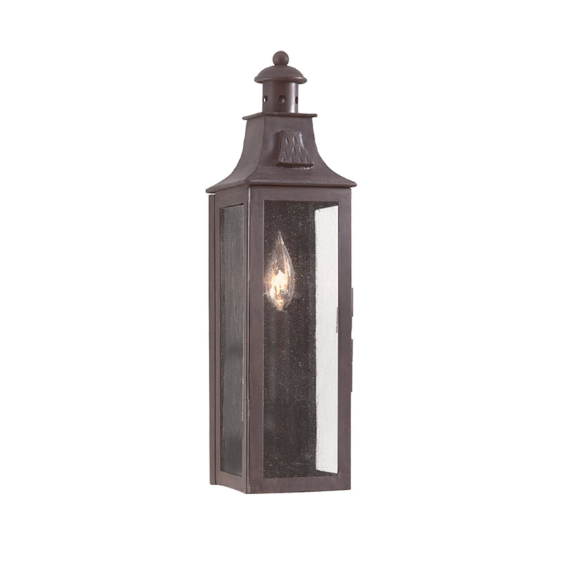 Troy Lighting BCD9007OBZ Newton 1lt Wall Pocket Lantern Small in Hand-Forged Iron