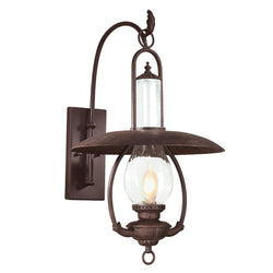 Troy Lighting BCD9011OBZ La Grange 1lt Wall Lantern Large in Hand-Worked Iron