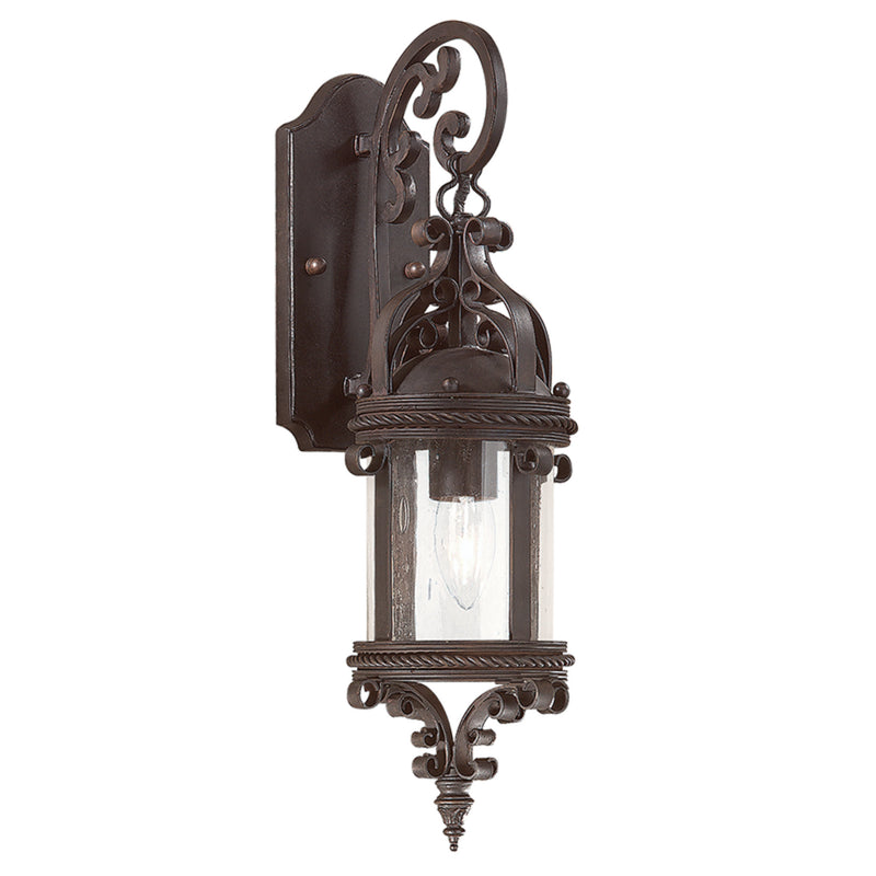 Troy Lighting BCD9121OBZ Pamplona 1lt Wall Lantern Medium in Hand-Forged Iron